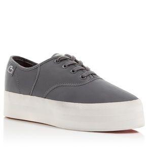 Lacoste Shoes - EUC GREY LACOSTE RENE PLATFORM SNEAKERS WOMENS 7.5