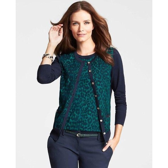 ann taylor cardigan full zip sweater