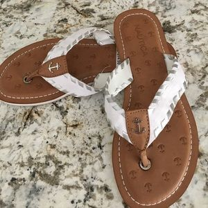 6fa2f7d190f Nautica Shoes - New Women s 7 Nautica Anchor Flip Flop Sandals
