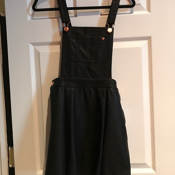f0bfb9db096 Kendall and Kylie Leather Skirt Overalls