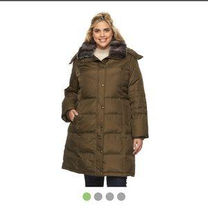 London Fog Jackets & Blazers - Women's London Fog Down Coat w hood. Sz XL
