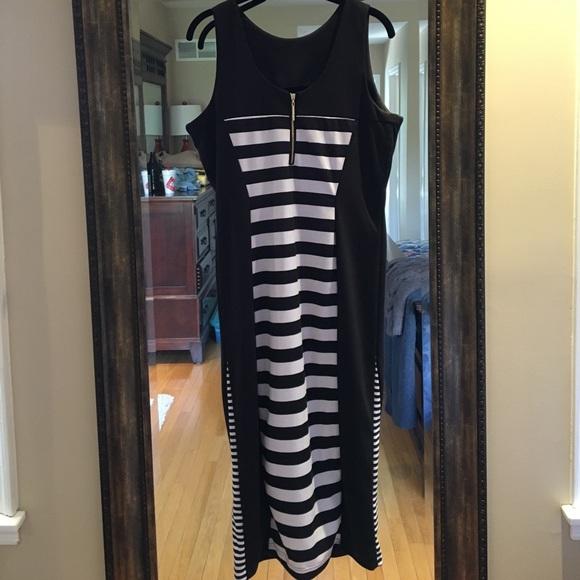 Nicki Minaj Dresses - NWT Black and White Stripe Design Dress