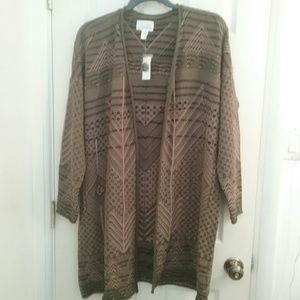 Simply Emma Sweaters - NWT Women's Plus Olive Aztec Sweater Final Price