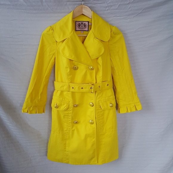 d900c9af043a Juicy Couture Yellow Trench Coat