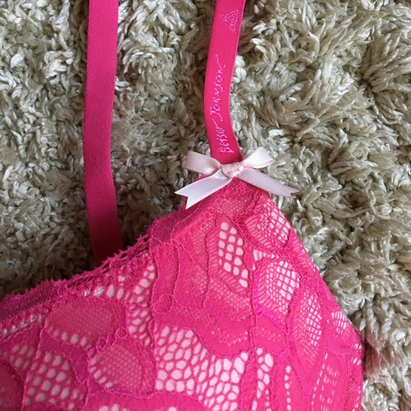 Betsey Johnson Intimates & Sleepwear - NWOT Hot Pink Lace Bra