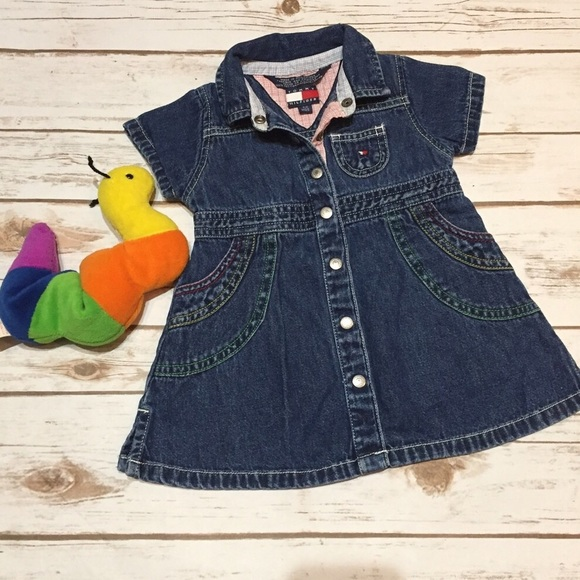Tommy Hilfiger Baby Girls Denim Dress