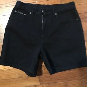 Calvin Klein Jeans Pants - Calvin Klein black high waisted shorts
