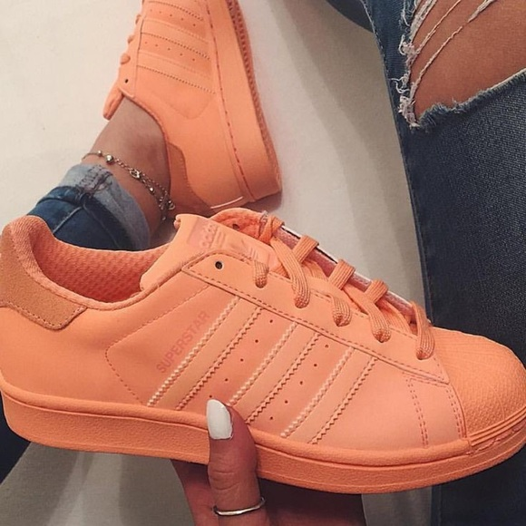 ac1dd96bc15 Adidas Shoes - Adidas SUPERSTAR REFLECTIVE Peach Shoes