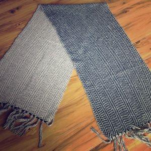 Missoni Accessories - Missoni Pink, Black & Gold Chevron Knit Scarf