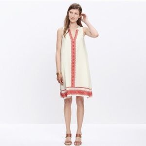 Madewell Silk Dress with Embroidery