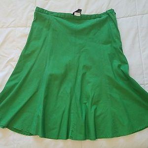 Tracy Evans green skirt