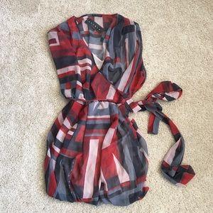 Sisley flowy wrap dress
