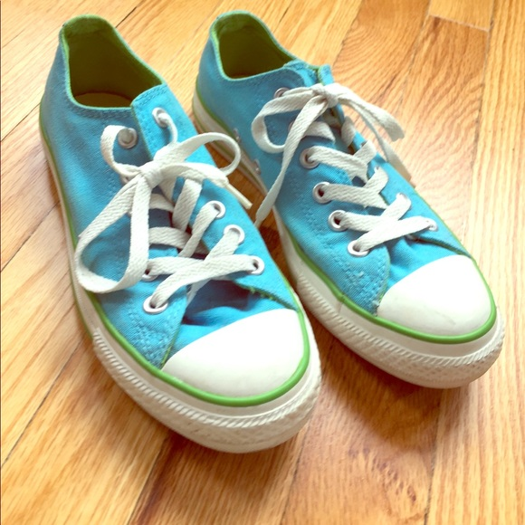 Converse Shoes - Women s blue green double tongue converse 8458a3fb0