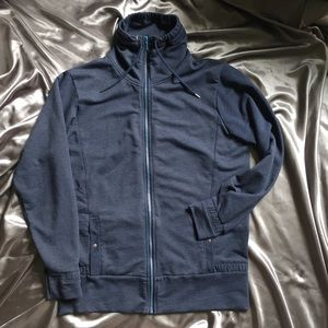 Helly Hansen Tops - Helly Hanson Large Blue Zip Up Light Sweatshirt