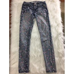 Mossimo Supply Co. Denim - Mossimo Skinny Floral Jeans