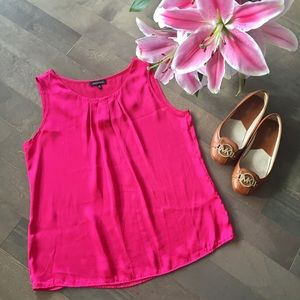 Notations Tops - Pink Pleated Blouse Tank! 💕