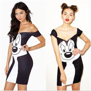 Lazy Oaf Dresses & Skirts - 💥RARE💥 Lazy Oaf Looney Tunes Pepe Body-con Dress