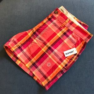 NWT Old Navy size 8 madras shorts. 5 inch inseam