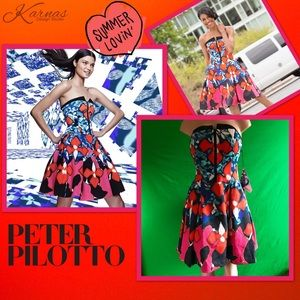Peter Pilotto Dresses & Skirts - PETER PILOTTO Colorful Printed Strapless Dress 6