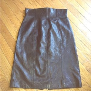 Vintage 80s leather pencil skirt