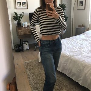 Reformation striped crop top size S