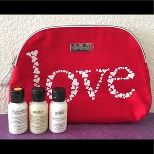 Philosophy Other - Philosophy Skincare Bundle with Red Love Bag ❤️