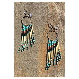 Tribal Fringe Earrings - New condition