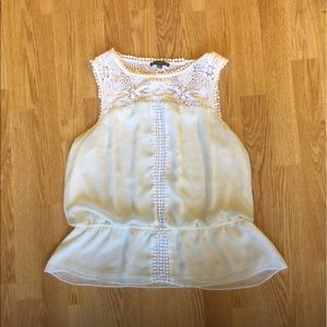 Tops - Adrianna papell ivory top in size Large