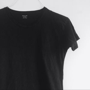Madewell Whisper Cotton Black Crewneck Tee