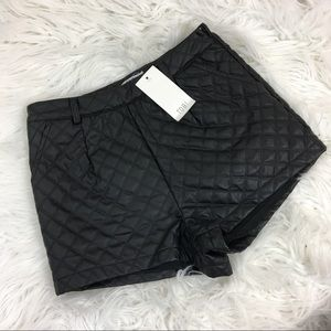 New Tobi Faux Leather Quilted Shorts