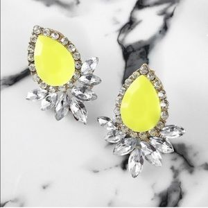 WILA Jewelry - Neon bright color pop statement crystal earrings.