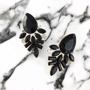 WILA Jewelry - Black statement earrings