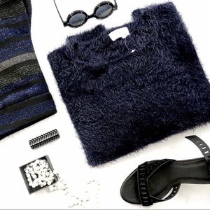 Navy Fluffy Sweater
