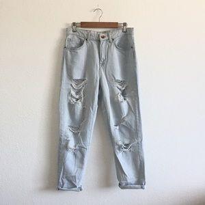 *ON HOLD* Lightwash Distressed Boyfriend Jeans