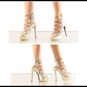 LFL Shoes - Brand new platinum color platform heels