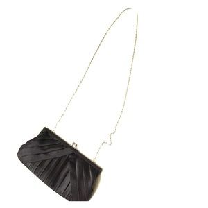 La Regale Handbags - Black satin evening bag
