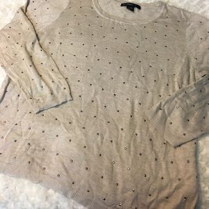 89th & Madison Sweaters - Plus Size Studded Light Sweater