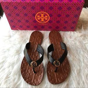 Tory Burch Shoes - NIB Tory burch Thora black leather sandal