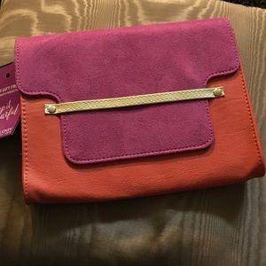 pureology Handbags - NWT suede like crossbody bag