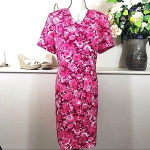 Sag Harbor Dresses & Skirts - Sag Harbor Bright Pink Flower Dress Fun For Summer