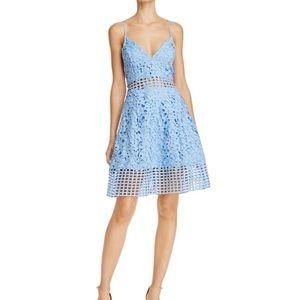 Bloomingdales / Friends & Lovers Blue Lace Dress