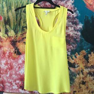 Silk Joie Alicia Bright Yellow Tank