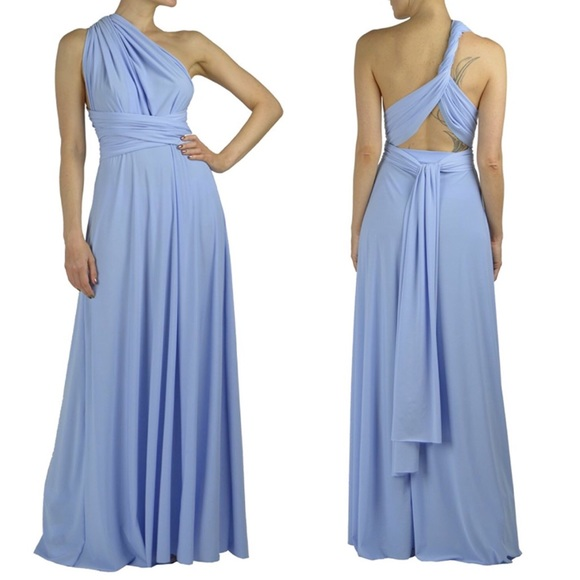 Von Vonni Dresses Infinity Transformer Wrap Dress Light Blue One