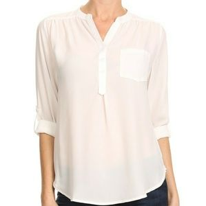 Tops - White Tunic Blouse