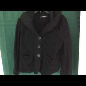 A. Giannetti Jackets & Blazers - Cute Juniors Wool Coat with Hood Size L