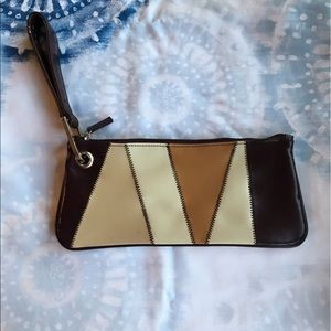 Vintage 70's Clutch purse with wrist strap