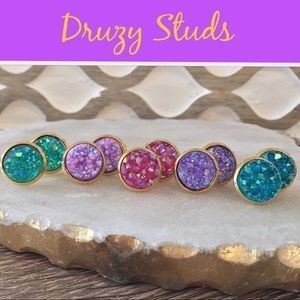 Simple Sanctuary Jewelry - 🌈COLORFUL DRUZY STUDS🌈
