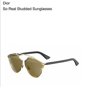 3c64090bac9 Christian Dior Accessories - FLASH SALE- 🚨Dior So Real Studded Sunglasses