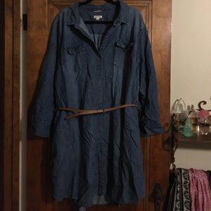 Women's size 4X denim Merona shirt dress