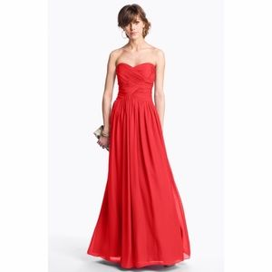 JS Boutique Dresses & Skirts - Red sweetheart chiffon gown
